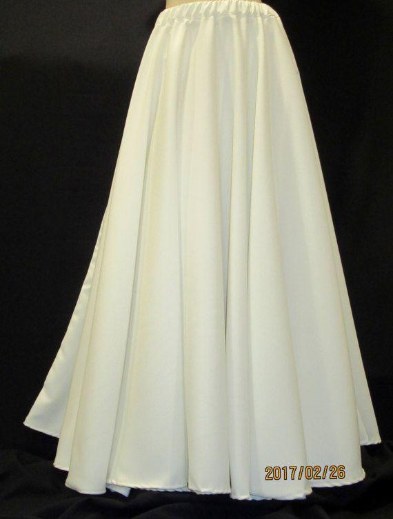 Solid White Floor Length Full Circle Skirtwedding By Sohoskirts
