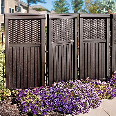 Woven Resin Privacy Screen  I need this to hide my ugly propane tank in my yard!