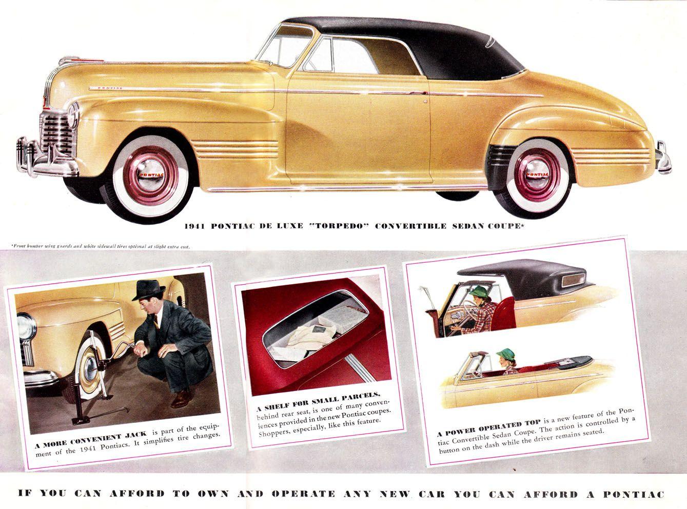 1941 Pontiac Deluxe Torpedo Convertible Sedan Coupe