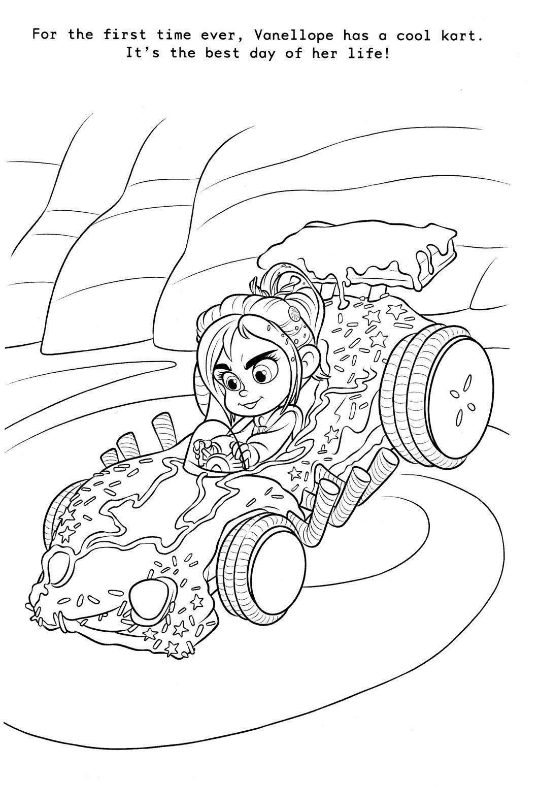 Wreck It Ralph Disney Princess Coloring Pages Images