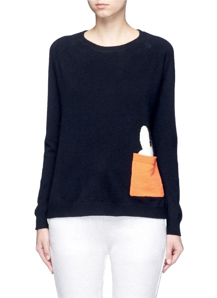 CHINTI AND PARKER x Miffy 'Miffy Peek Pocket' cashmere sweater ...