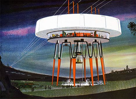 1960s alternative designs for future power stations by Henry Dreyfuss and Associates, commissioned by United States Steel.