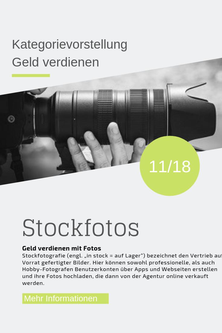 Geld verdienen mit Stockfotos (mit Bildern ...