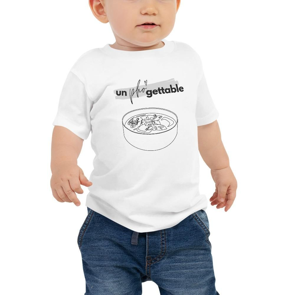 It's never too early to look great! So get your baby this short sleeve cotton jersey tee that's not only stylish, but also comfy, durable, and easy to clean. It's a classic that's bound to become the most loved item in your baby's wardrobe. • 100% cotton* • Pre-shrunk fabric • Side-seamed • Relaxed fit for extra comfort *Heather color is 52% Airlume combed and ring-spun cotton 48% polySize guide 6-12M 12-18M 18-24M Width (inches) 10 1/2 11 11 1/2 Length (inches) 12 1/4 13 1/4 14 1/4 Fits Baby We