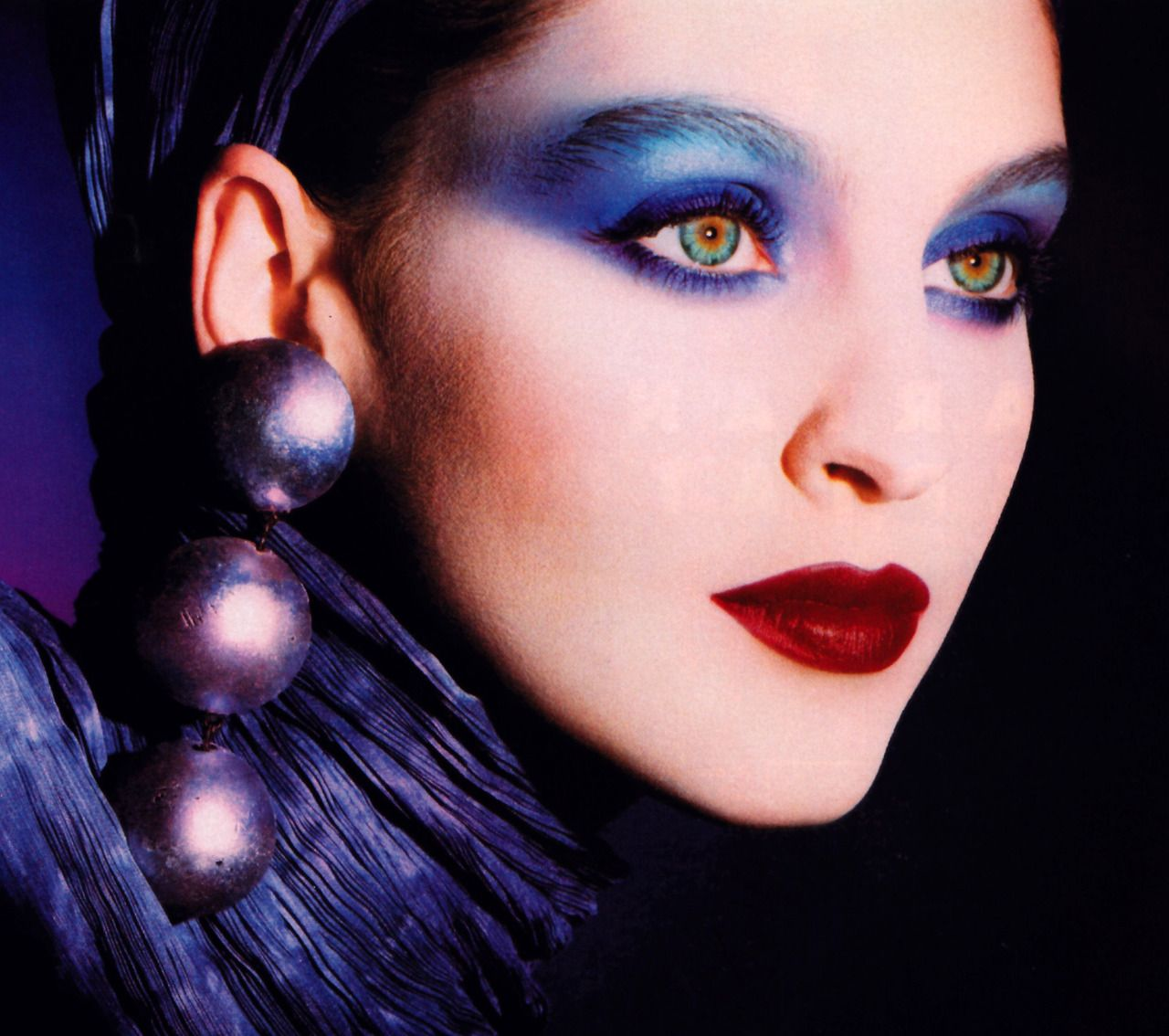 Christian Dior Maquillage, Harper's Bazaar, September 1988. Makeup by Tyen.