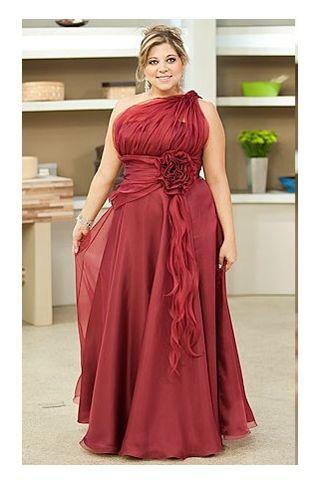 piniful.com plus size one shoulder dress (33) #plussizefashion ...