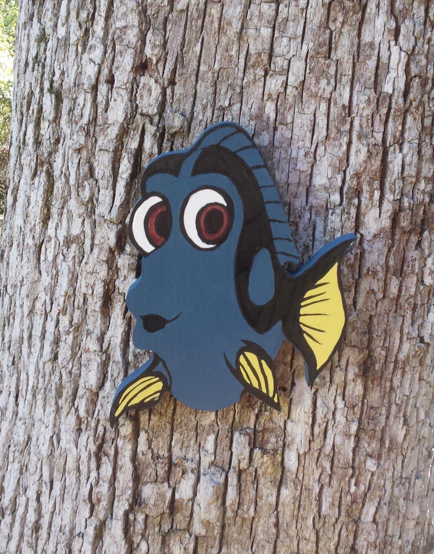 Custom Cut Wood Art - Finding Dory - Custom Cartoon Piece - Cartoon Art - Children's Room - Children's Party Decor - Beach Home Decor by ChicDesignsByTiffany on Etsy https://www.etsy.com/listing/482321235/custom-cut-wood-art-finding-dory-custom