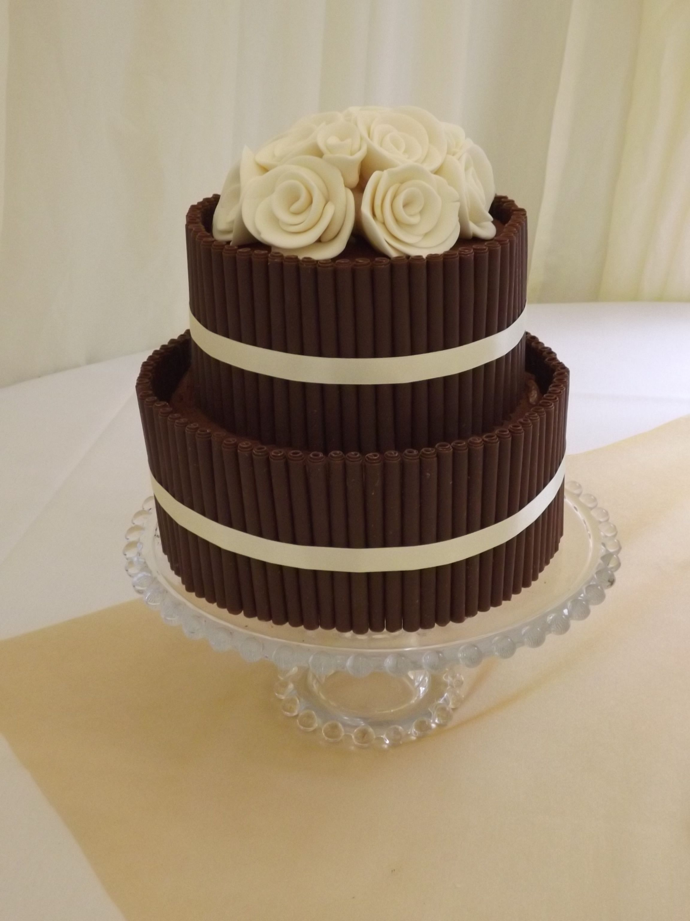 2 tier chocolate wedding cake recipe chocolate cigarillo cake two tier chocolate cigarillo 10119