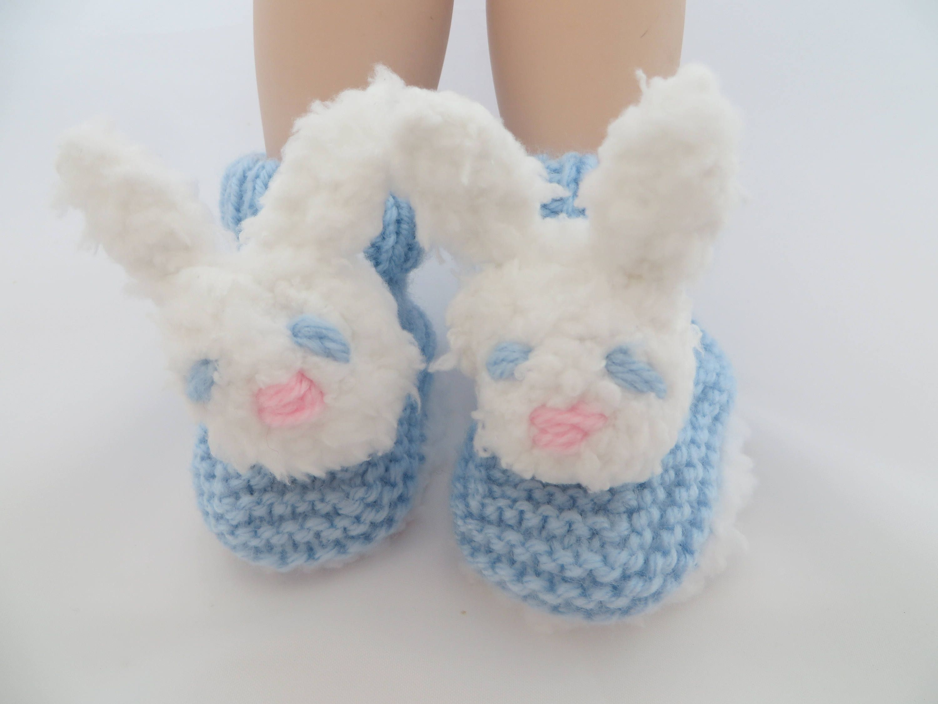Baby Booties Bunny Rabbit face baby booties Baby Shower t Size