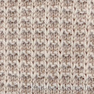 Square Stitch Pattern of Loop Stitches, knitting pattern chart, Squares, Diamond…