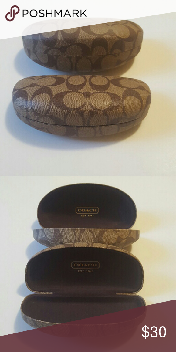 COACH SUNGLASS CASES Authentic cases one small, one large. Excellent condition. Coach Accessories Sunglasses