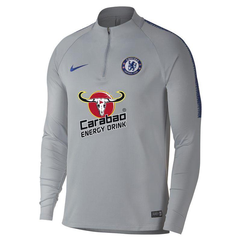 17ec66103 Chelsea FC Dri-FIT Squad Drill Men s Long-Sleeve Football Top - Grey