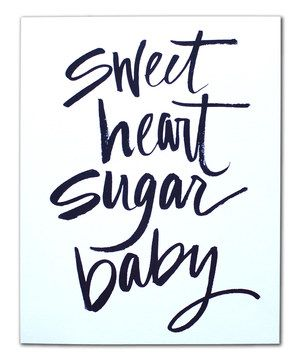 Another great find on #zulily! 'Sugar Baby' Print by Live Love Studio #zulilyfinds