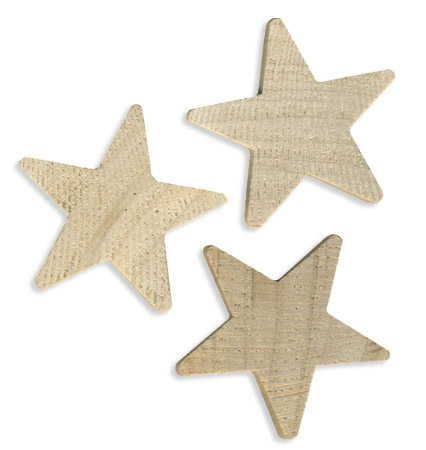 1  2 Rounded Wood Stars 3pcs Wood Stars Unfinished