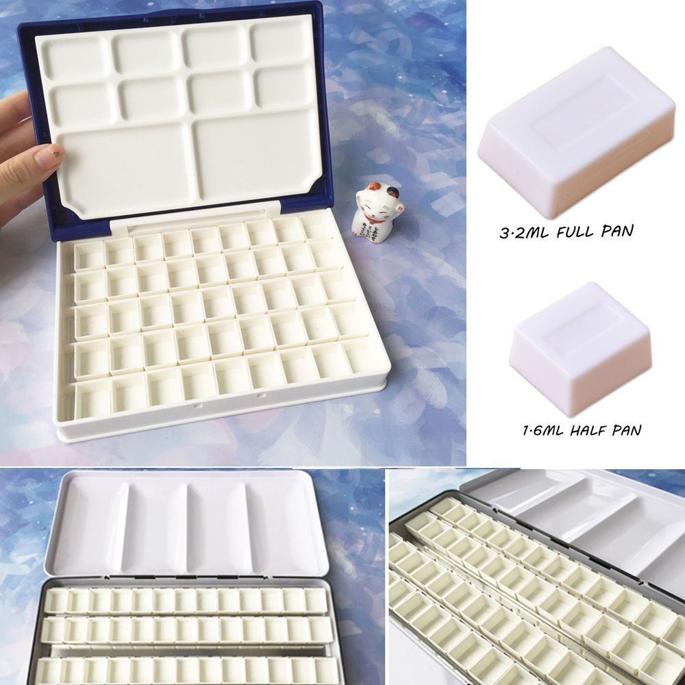 10 20 30 40pcs Water Colour Empty Pan Full Half Pans For
