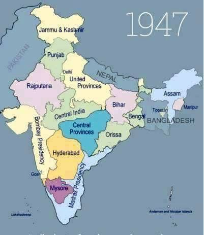 India after the amalgamation of princely states soon after - best of world history maps thomas lessman