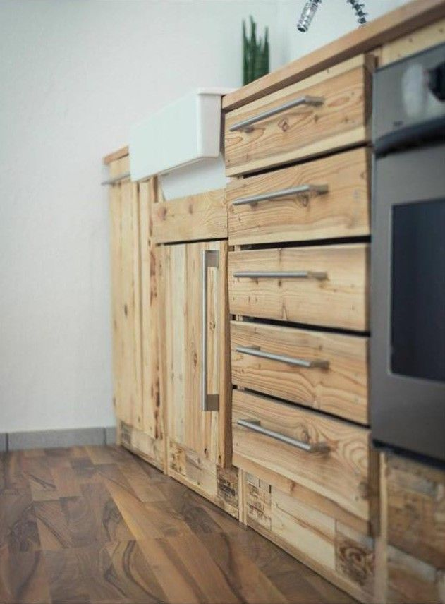 Küche aus paletten Mehr Pinterest Pallets, Kitchens and Pallet fu\u2026 - Parkett In Der Küche