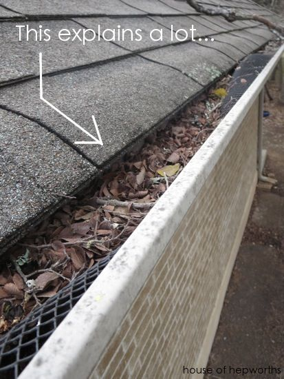 Spring Cleaning Cleaning Out The Rain Gutters House Of Hepworths Cleaning Gutters Gutters Rain Gutters