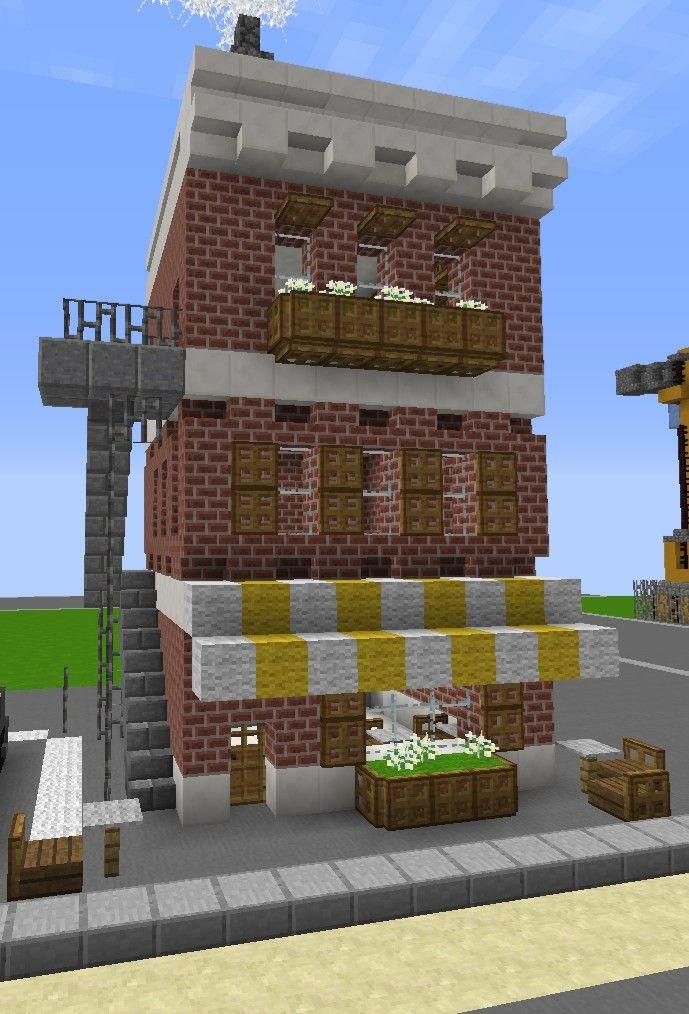 Minecraft Build cafe in 2020 | Minecraft city, Minecraft ...
