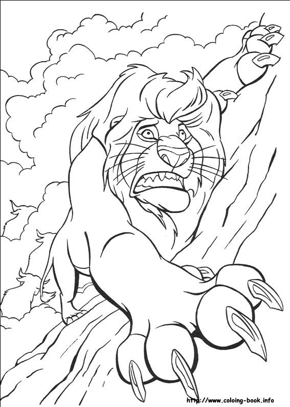 The Lion King coloring picture | to color | Pinterest