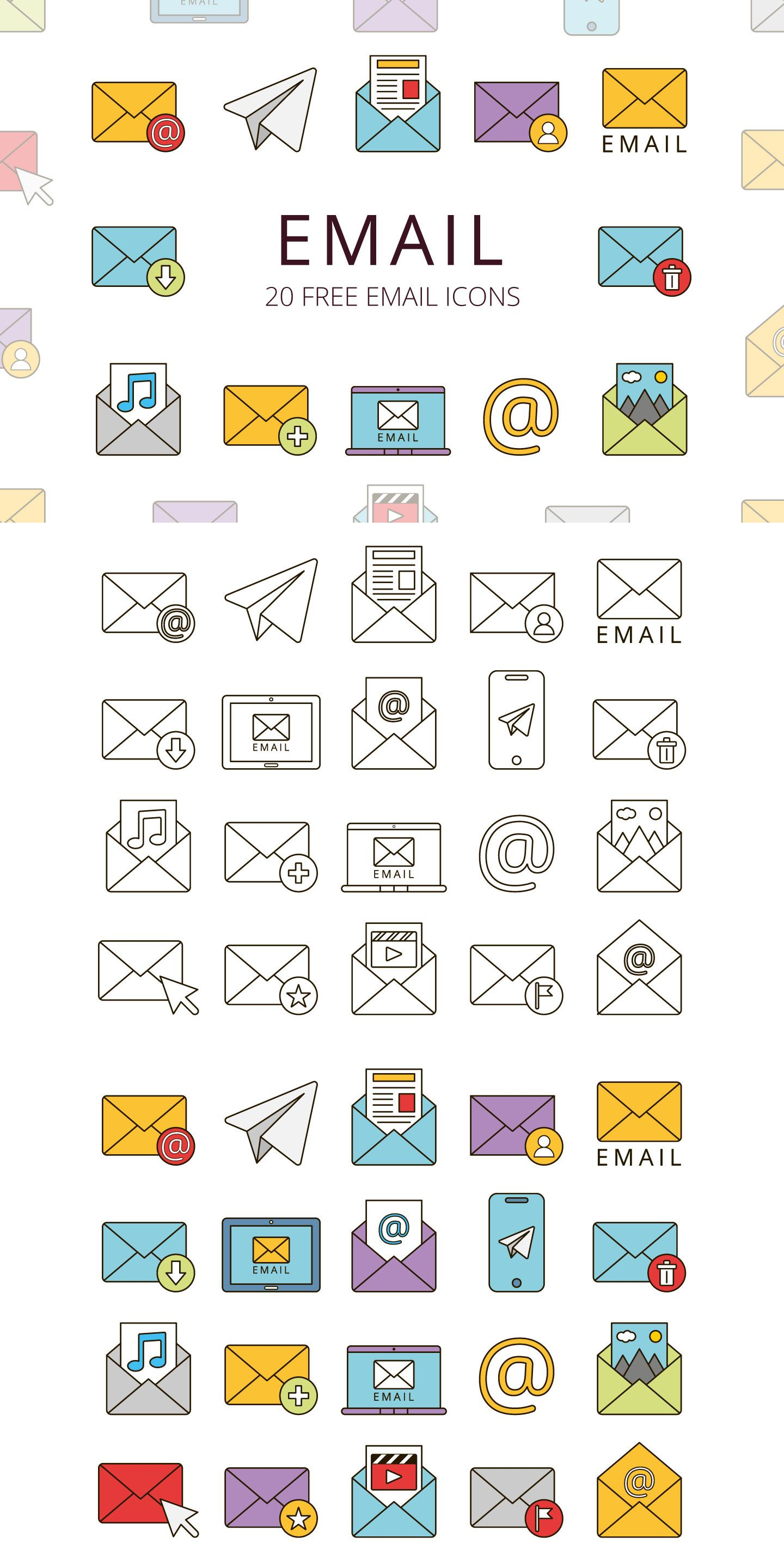 Email Free Vector Icon Set in 2020 Email icon, Icon set