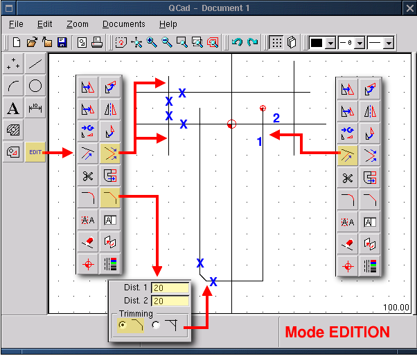 Lf132 Applications Qcad Dibujo Tecnico Bajo Linux Instalaciones Electricas En Viviendas Instalacion Electrica Proyectos De Diseno
