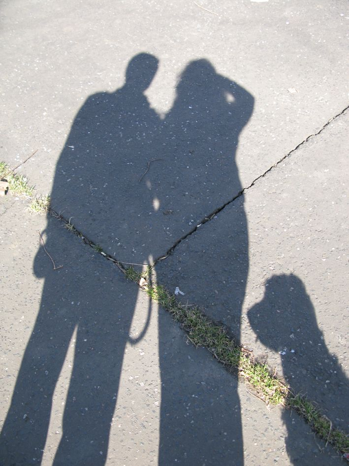Just the three of us! Feeling inspired by light and shadow