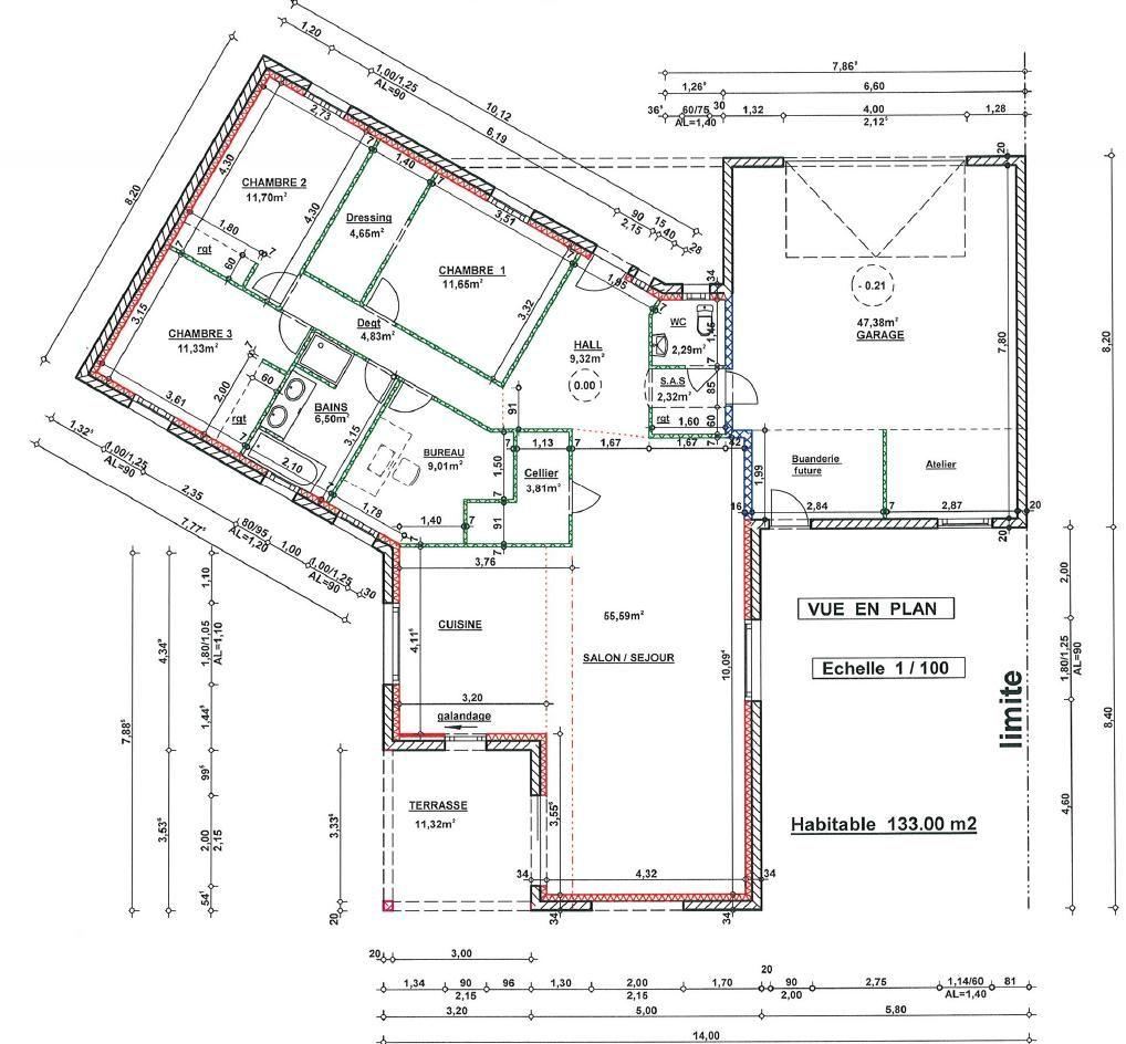 Plan Maison 4 Chambres 130m2 Plan Maison