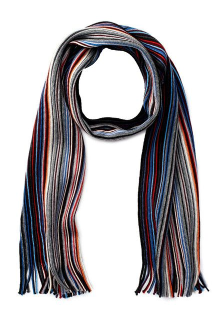 f576679f2 Chelsey Imports | Wool Knit Pencil Striped Scarf | Wishlist ...
