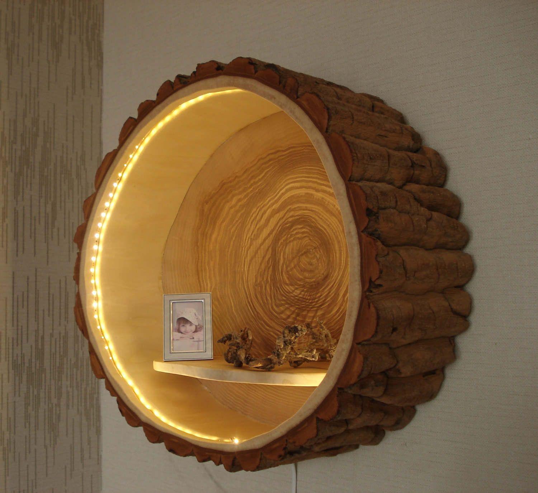 holzlampe baumstamm lampe von holzbaubohse auf etsy. Black Bedroom Furniture Sets. Home Design Ideas