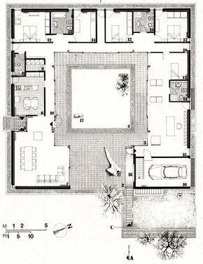 Facciataarchitettura Courtyard House Plans Architectural Floor Plans House Plans