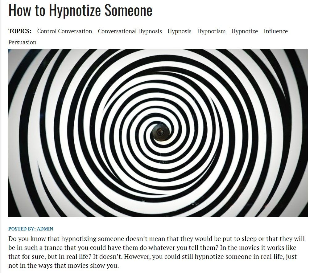 Hypnotism Hypnotic Illusions This Or That Questions