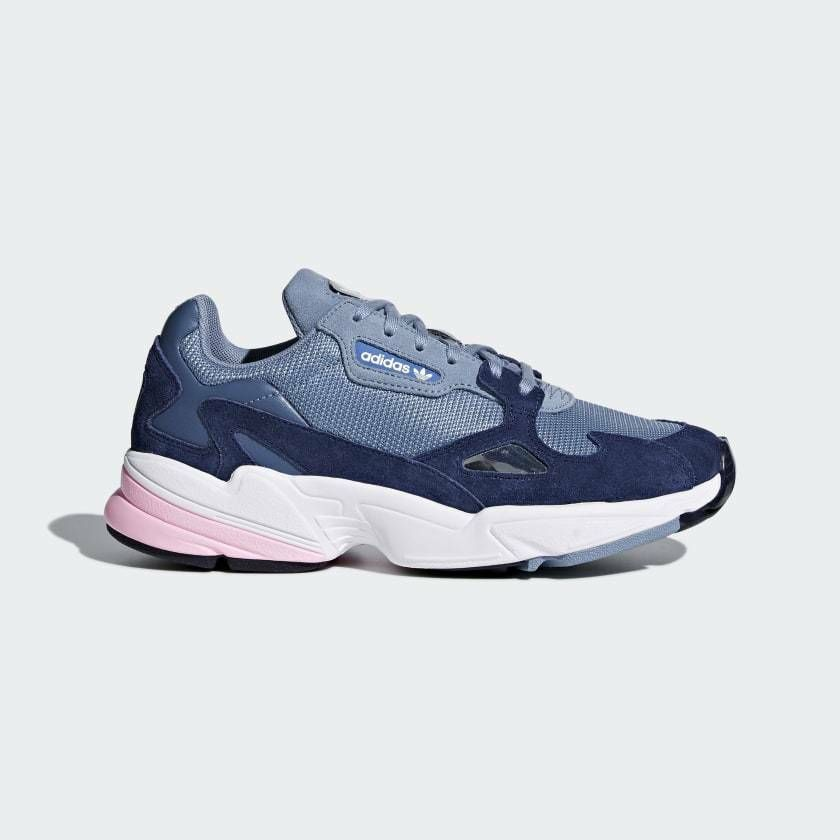 NEW WOMEN'S ORIGINALS FALCON SHOES RAW GREY LIGHT PINK | Hot