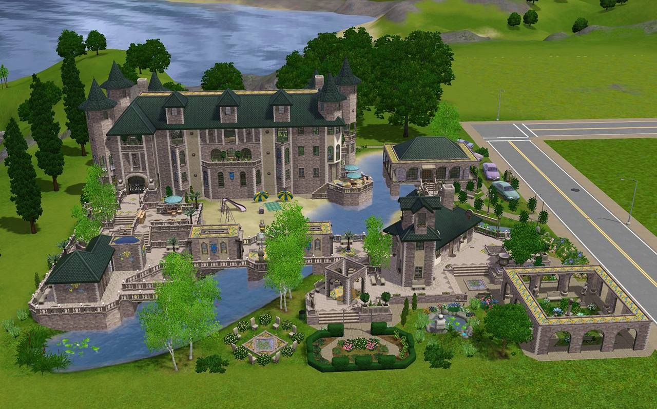 The Fantasy Mansion No Cc Mansions Sims 3 Houses Ideas Best Sims