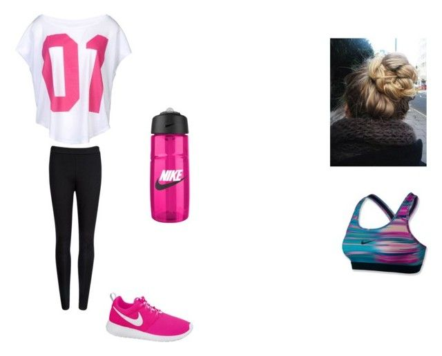 """""""workout"""" by staciehigg ❤ liked on Polyvore featuring Ted Baker and NIKE"""