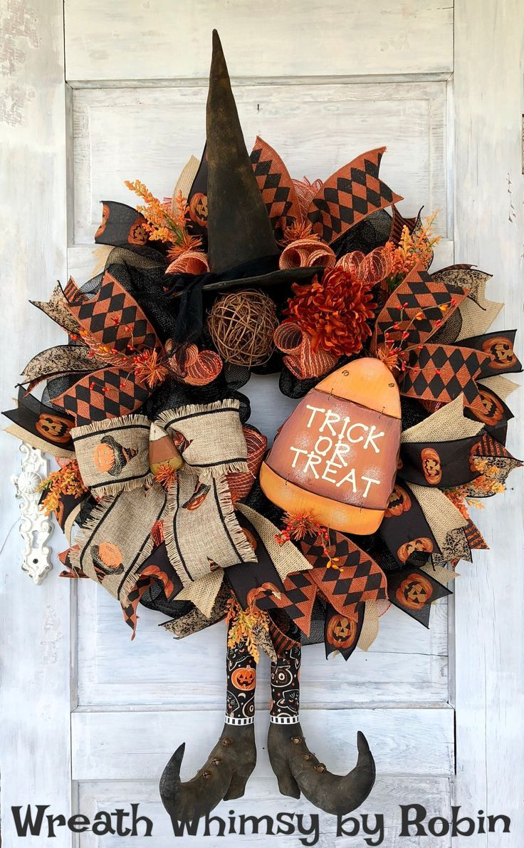Primitive Witch Wreath #halloweenwreaths