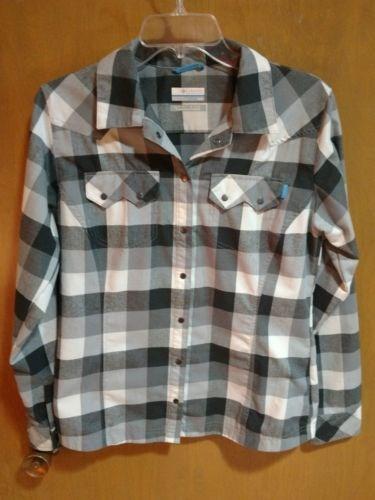 13.96$  Watch here - http://vitip.justgood.pw/vig/item.php?t=axyj2l28157 - COLUMBIA Womens Plaid Flannel Shirt Omni-Wick Advanced Evaporation Size Medium