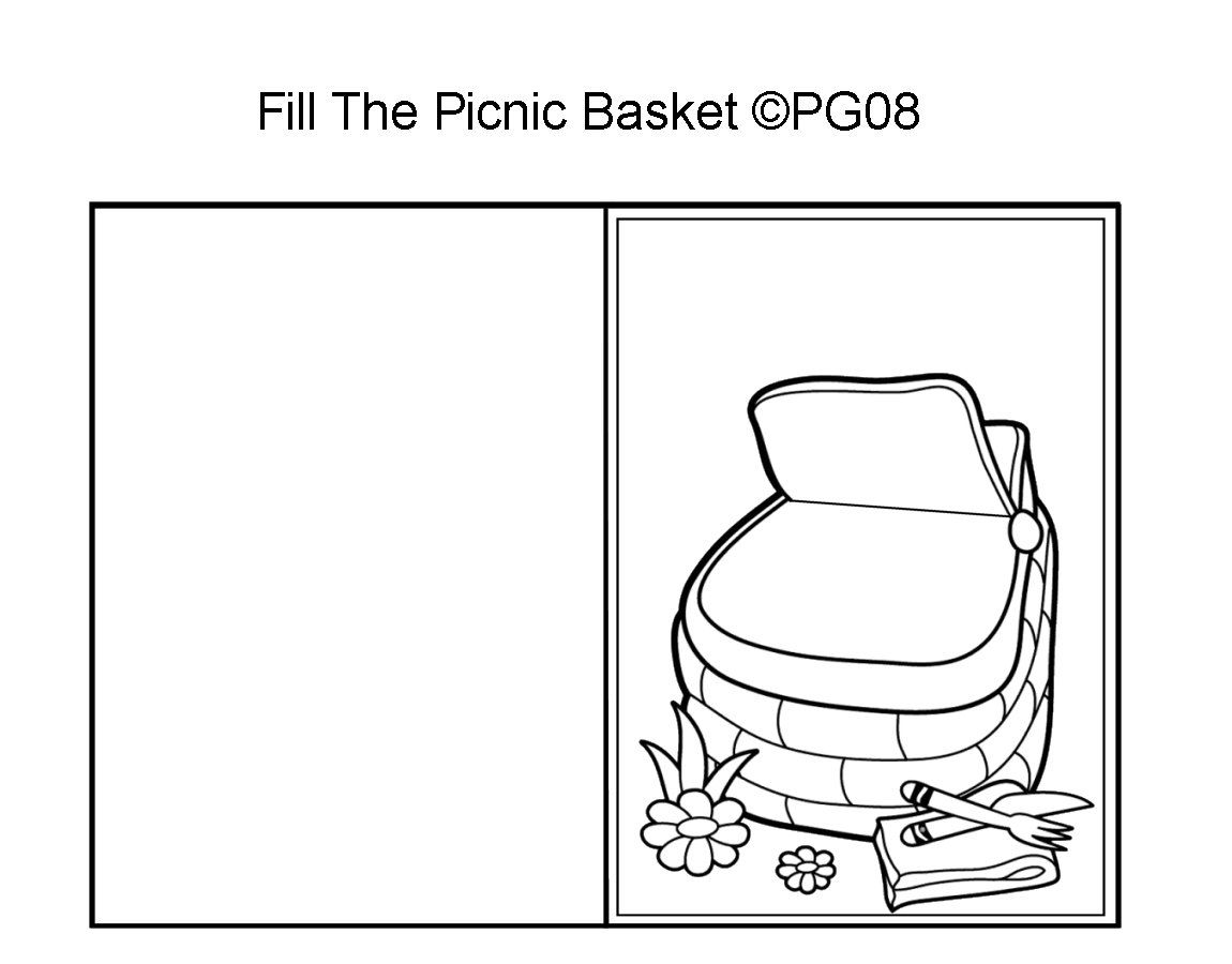picnic basket template i made what i can do in the classroom
