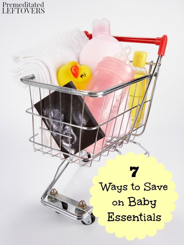 7 Ways to Save on Baby Essentials- The cost of baby items like wipes, formula, and clothes can become quite expensive. Save money with these 7 frugal tips.