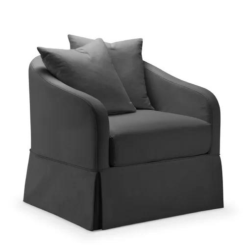 Chaffin Slipcover Swivel Barrel Chair Swivel Barrel Chair Barrel Chair Corner Seating