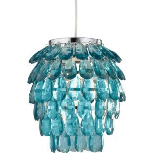 Living Pinele Pendant Light Shade Teal At Argos Co Uk Your Online For Lamp Shades