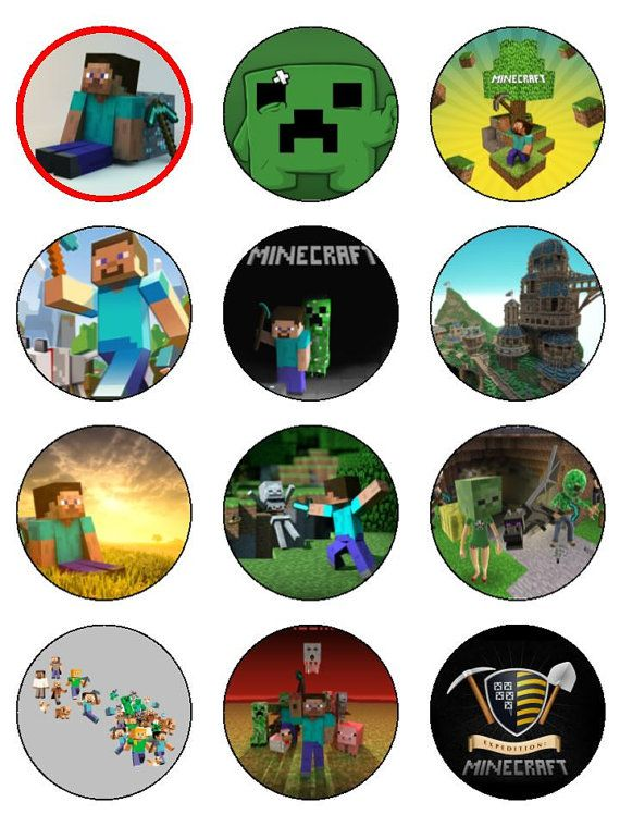 2 Dozen Edible Image Minecraft Cupcake Toppers By Cakeorationstore