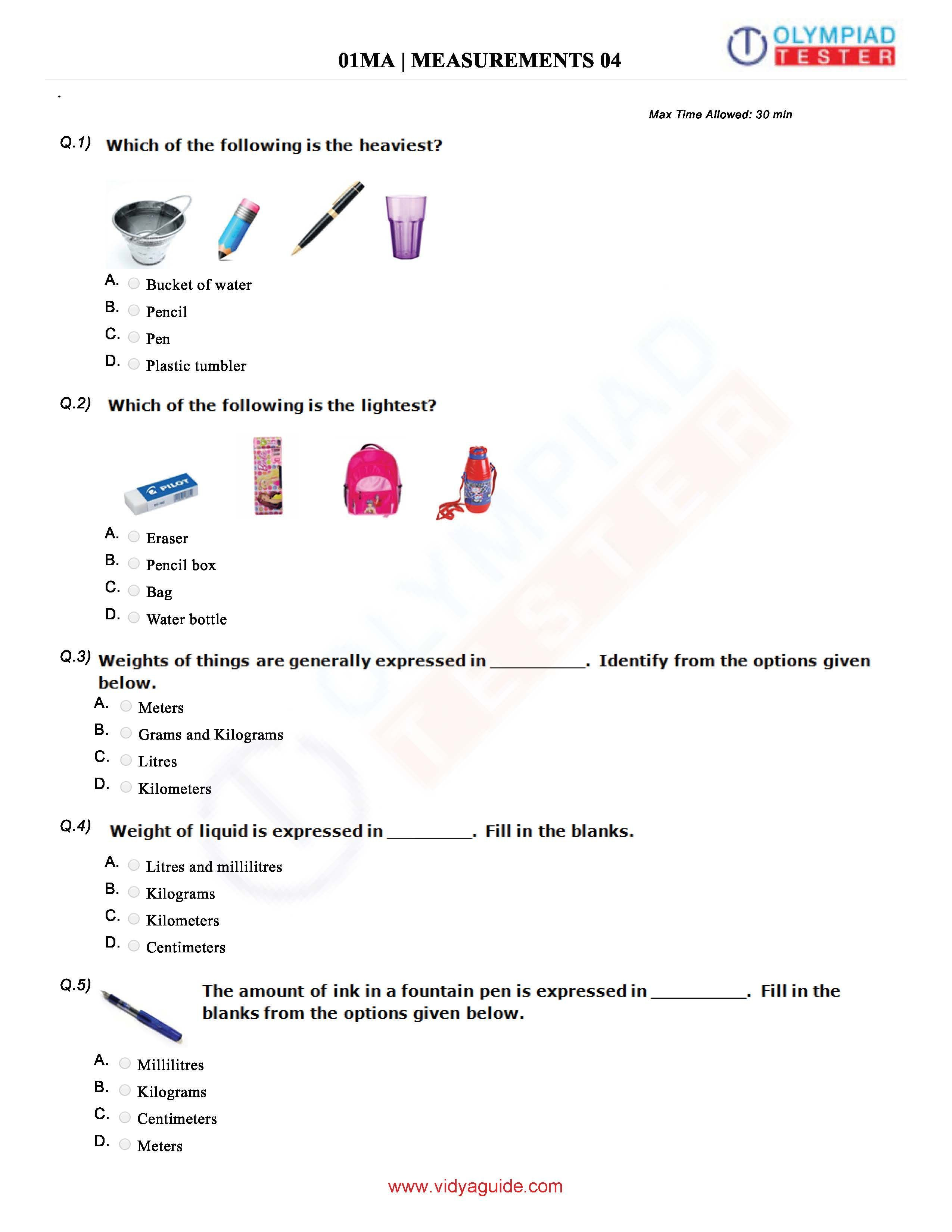 Download Class 1 Maths Olympiad Sample Papers As Pdf Worksheets