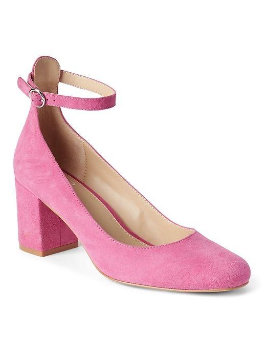 fb61d1107 Gap Womens Ankle-Strap Block Heels Shocking Pink