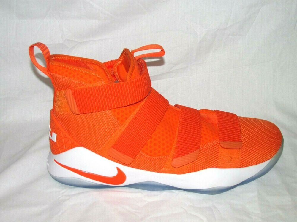 best website 3c0c9 f7654 Nike Lebron Soldier XI TB Mens Basketball Shoes 14 Orange ...