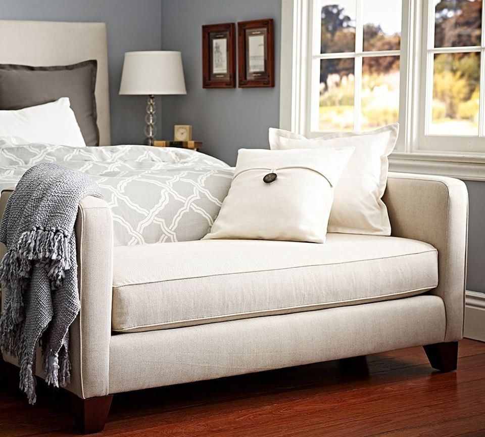 Pottery Barn bedding Home bedroom, Upholstered bench