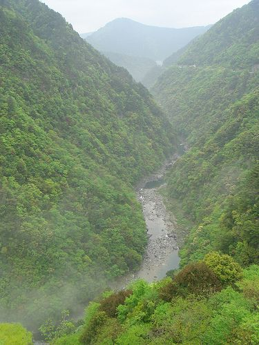 Day 10: The Iya Valley in central Shikoku is known for its lush, green mountains and stunning mountain vistas. Spend two days at the famous Iya Onsen hot springs. www.boutiquejapan.com