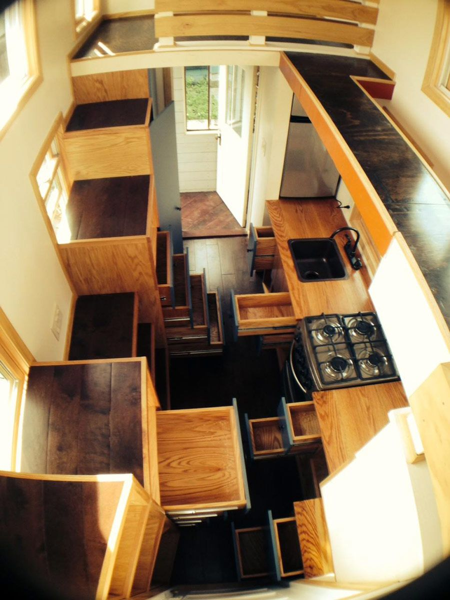Tiny House On Wheels Two Lofts absolutely amazing 200 square foot tiny home on wheels, with two