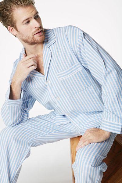 8f2887c64f Bedhead Men s 3D Blue Stripe Fine Cotton Pajama