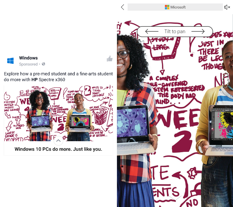 Windows Canvas Ad 1 - Canvas Ad Examples | Social Ads